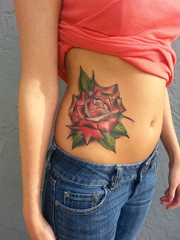 ROSE ON STOMACH