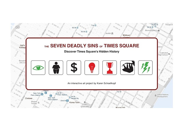 the seven deadly sins of times square