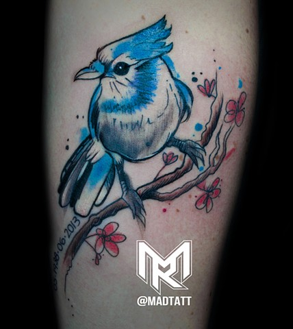 Custom Watercolour Blue Jay