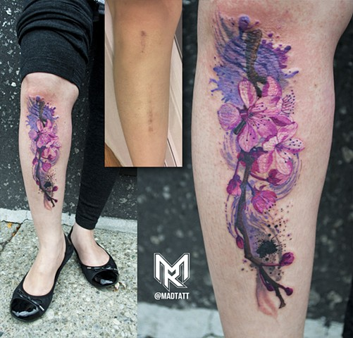 Scar Cover Up Tattoo Leg Makeup Nuovogennarino