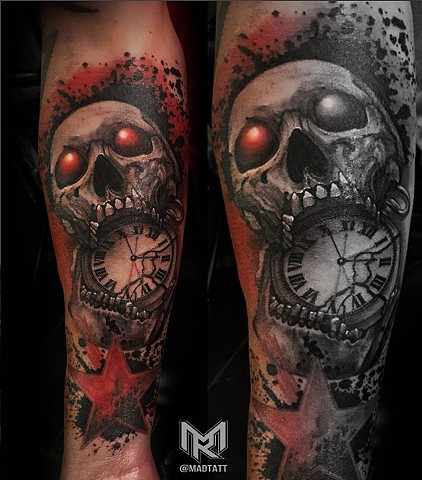 Skull and Pocket Watch