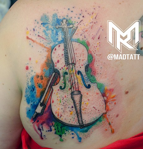 Watercolor Cello