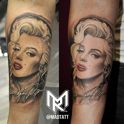 Classic Marylin Portrait healed and Fresh