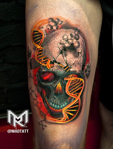 Skull and Double Helix