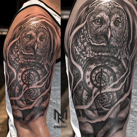 Owl, Clock and Rose Morph