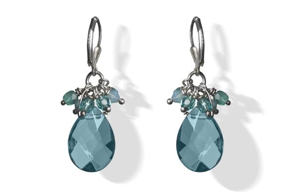 Aquamarine Sparkle Drop