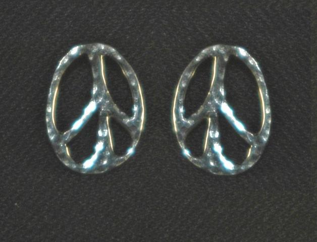 Peace Button Earrings