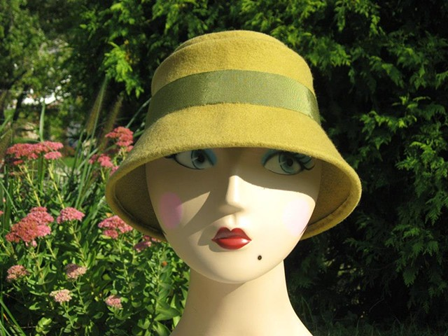 Green Freeform Cloche