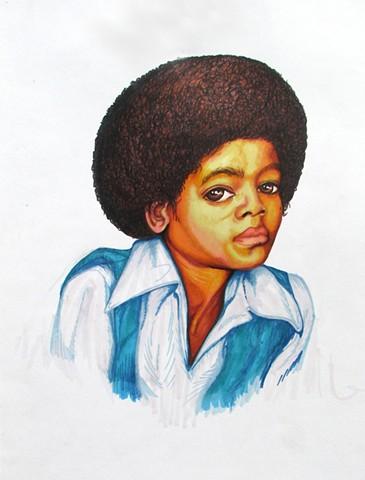 MIchael Jackson, Marker, Illustraition