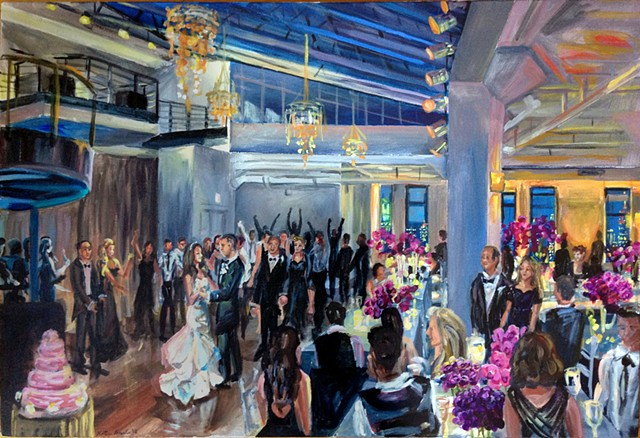 Wedding Reception at the Tribeca Rooftop, NYC