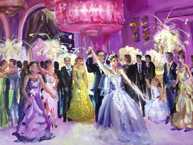 Wedding Reception at the Grove (detail)