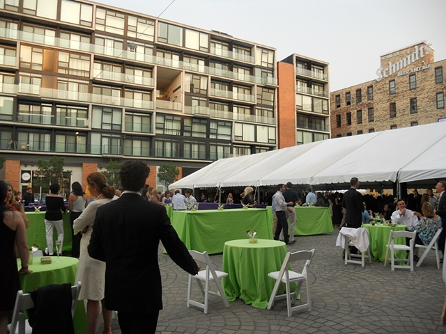 "Philadelphia Mural Arts Program ""Wall Ball"" Fundraiser, event site (PIazza at Schmidt's)"