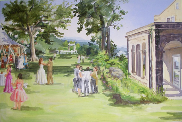 Final painting: Renee and Robert, completed the day after the wedding on site