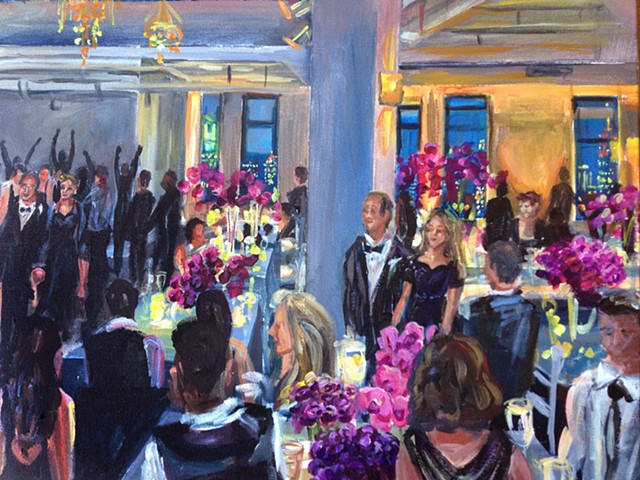 Wedding Reception at the Tribeca Rooftop, NYC (detail)