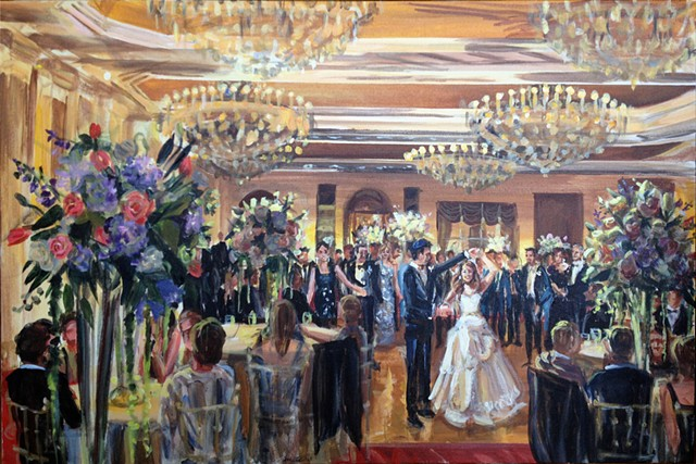 Wedding Reception at the Garden City Hotel, Long Island