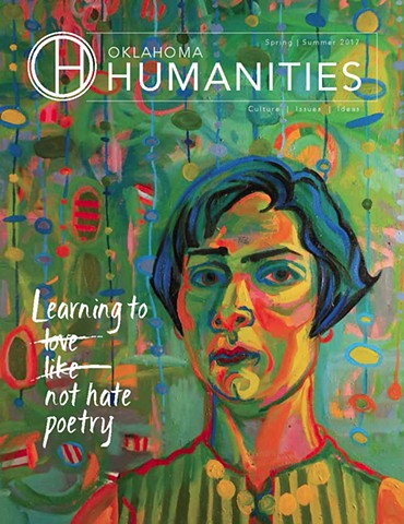 Diane Levesque's work is featured on the cover of Oklahoma Humanities Magazine