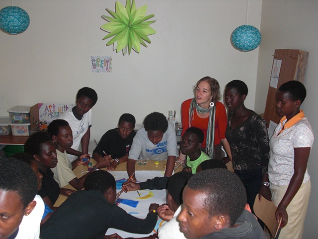 Teaching art at The Agahozo-Shalom Youth Village in Rwanda
