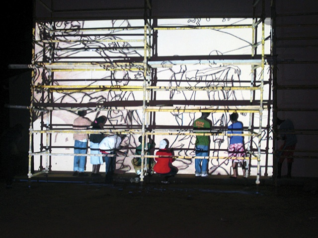 Night Projection (Rwanda Mural project)