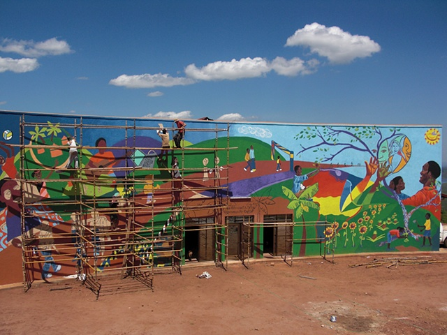 Reaching the Top (Rwanda Mural project)