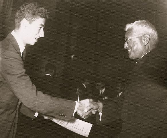 Roberto (1954) graduates from San Ignacio de Loyola High School, Medellin