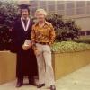 Roberto (1976) graduates from City College w/ Richard Loe