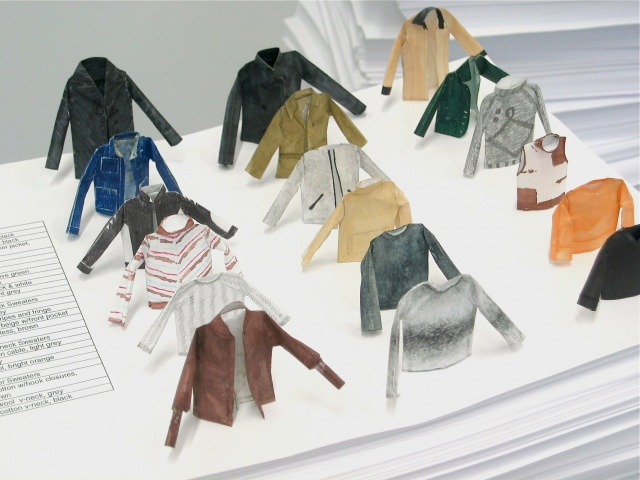 """Clothing inventory--under 2"""" tall (detail)"""
