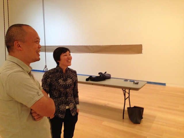 Photo of me and Yun-fei, taken by Wellin Museum Director Tracy Adler