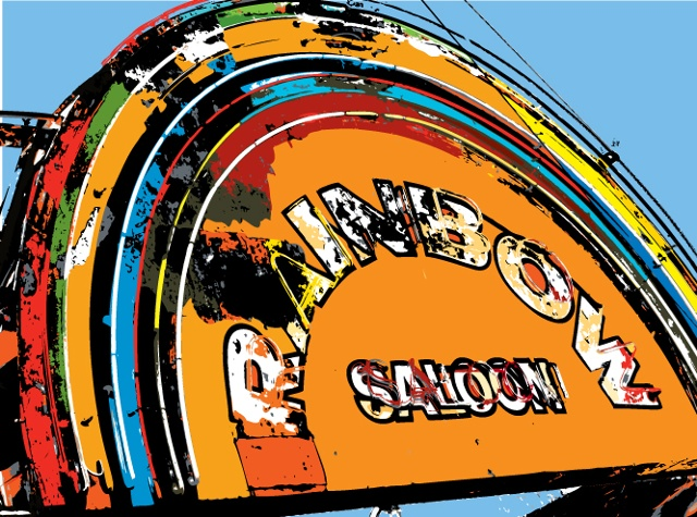 rainbow saloon, roy
