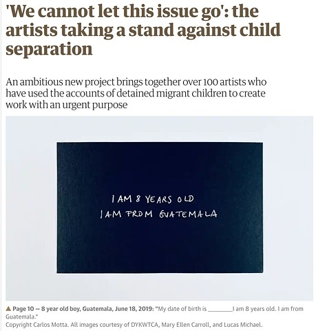 'We cannot let this issue go': the artists taking a stand against child separation