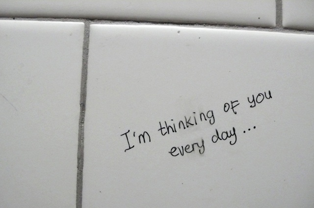 I'm thinking of you everyday. . .