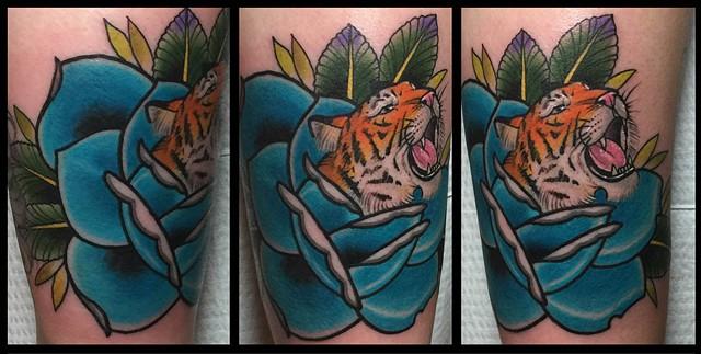 Tiger in Rose
