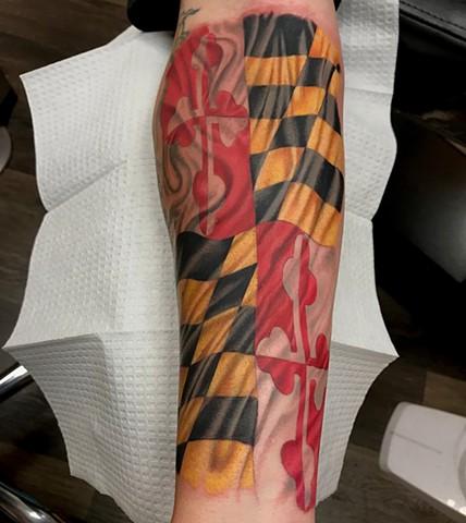 Maryland Pride Tattoo