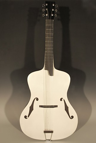White/Black Archtop Guitar