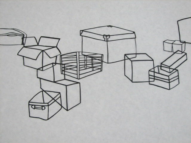 Boxes Landscape, detail 2