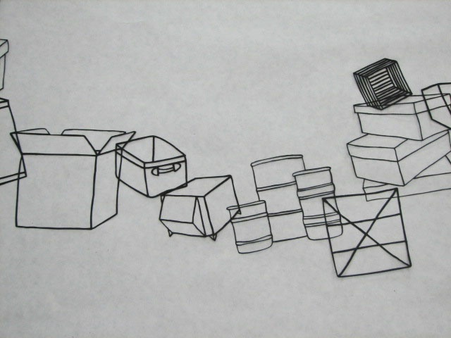 Boxes Landscape, detail 1