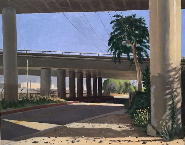 Under the 5 and the 134 at the L.A. River