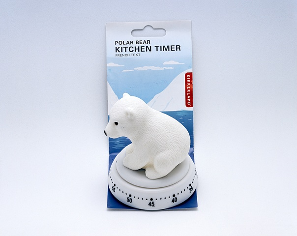 Readymade Object #7: Polar Bear Cub on Glacier Kitchen Timer © 2010 French Text