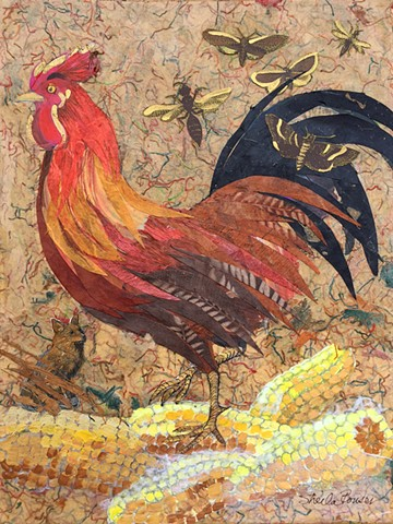 "the cock from Chaucer's tale ""Chanticleere and the Fox"""