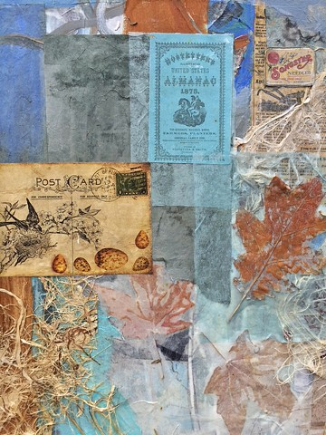 detail of WINTERFLIGHT collage