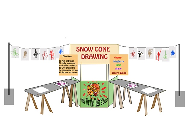 mock up snow cone stand