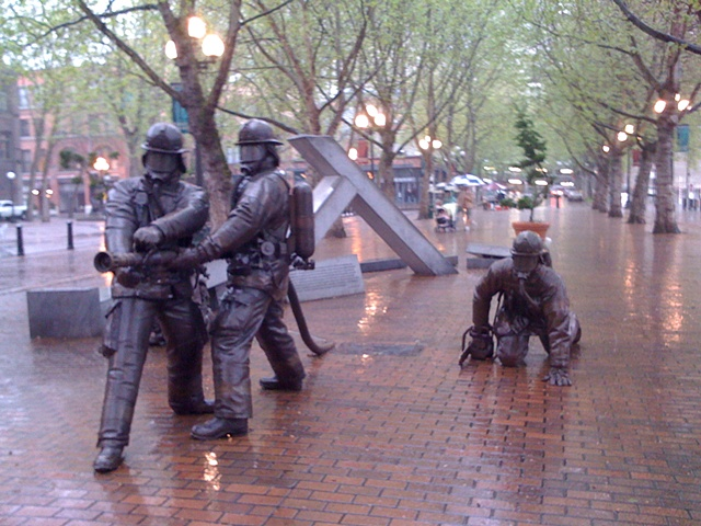 Firefighters in the Rain