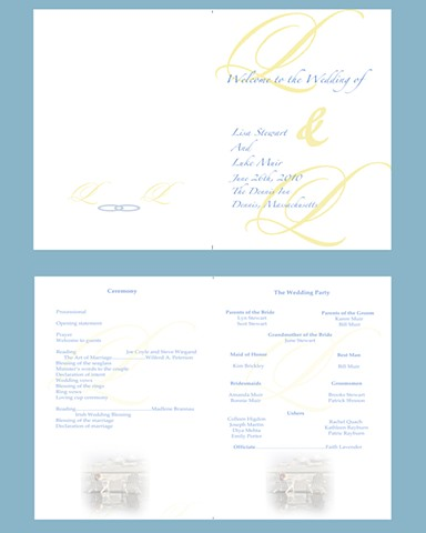 Cape Cod wedding program