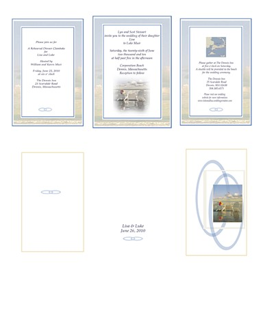 Cape Cod wedding invite