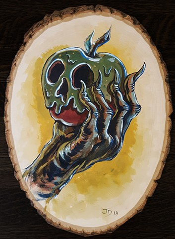 Painting of a poisoned apple