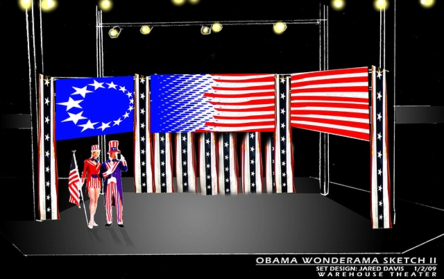 Obama Wonderama Scenery Sketch