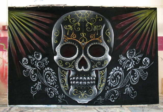 "Stage Left ""Mexican"" Skull For Diamond Dead"