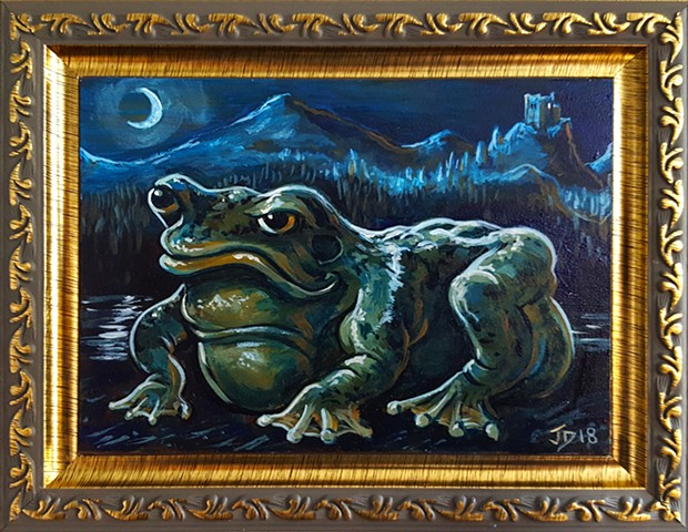 Painting of a Frog