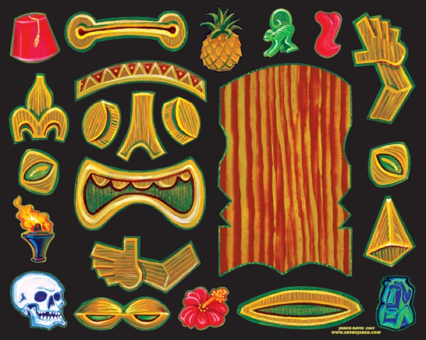 Mr. Tiki Head Magnet Set