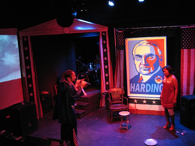 President Harding is a Rock Star Production Photo, Landless Theater