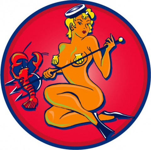 Spearfisher Logo for Lobsterboy Revue T-Shirts